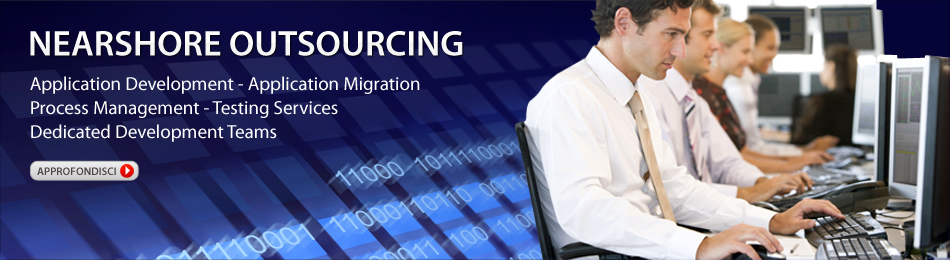 Nearshore Outsourcing - Application Development - Application Migration - Process Management - Testing Services - Dedicated Development Teams